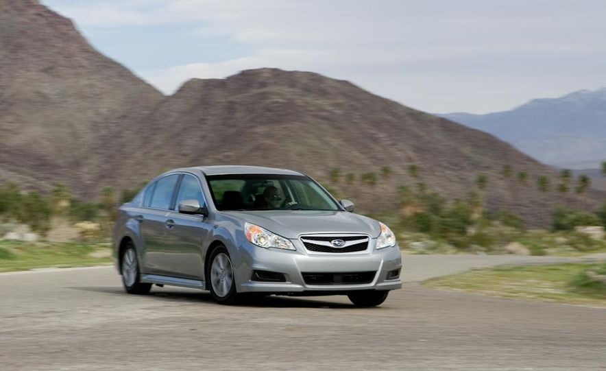 2010 Honda Accord EX, 2010 Subaru Legacy 2.5i, and 2011 Hyundai Sonata SE - Slide 40