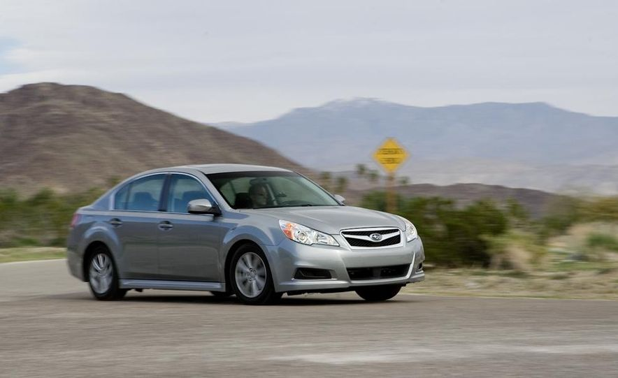2010 Honda Accord EX, 2010 Subaru Legacy 2.5i, and 2011 Hyundai Sonata SE - Slide 41