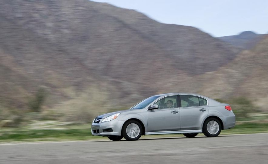 2010 Honda Accord EX, 2010 Subaru Legacy 2.5i, and 2011 Hyundai Sonata SE - Slide 45