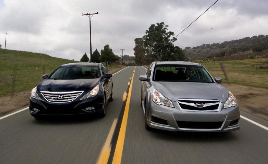 2010 Honda Accord EX, 2010 Subaru Legacy 2.5i, and 2011 Hyundai Sonata SE - Slide 7