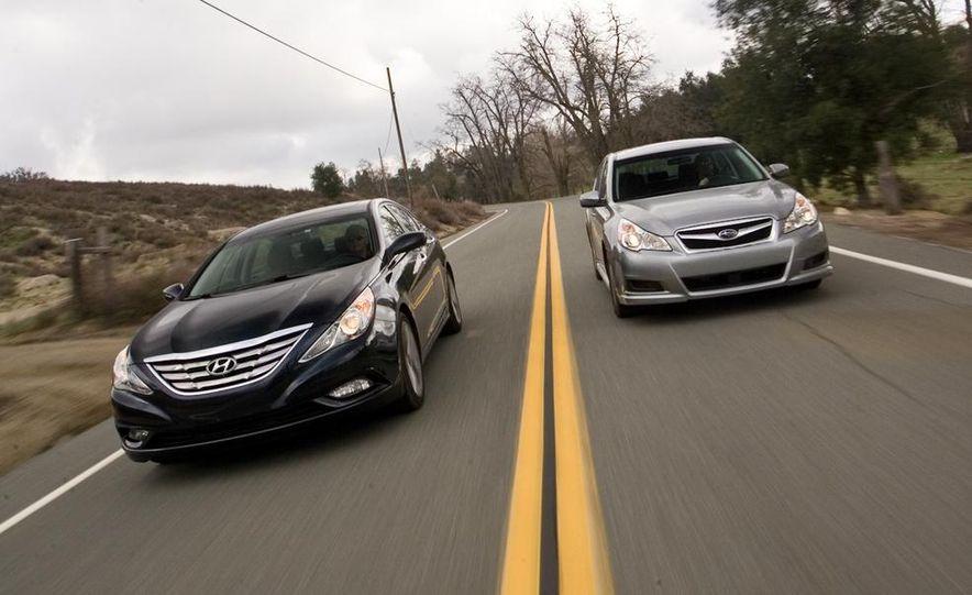 2010 Honda Accord EX, 2010 Subaru Legacy 2.5i, and 2011 Hyundai Sonata SE - Slide 8