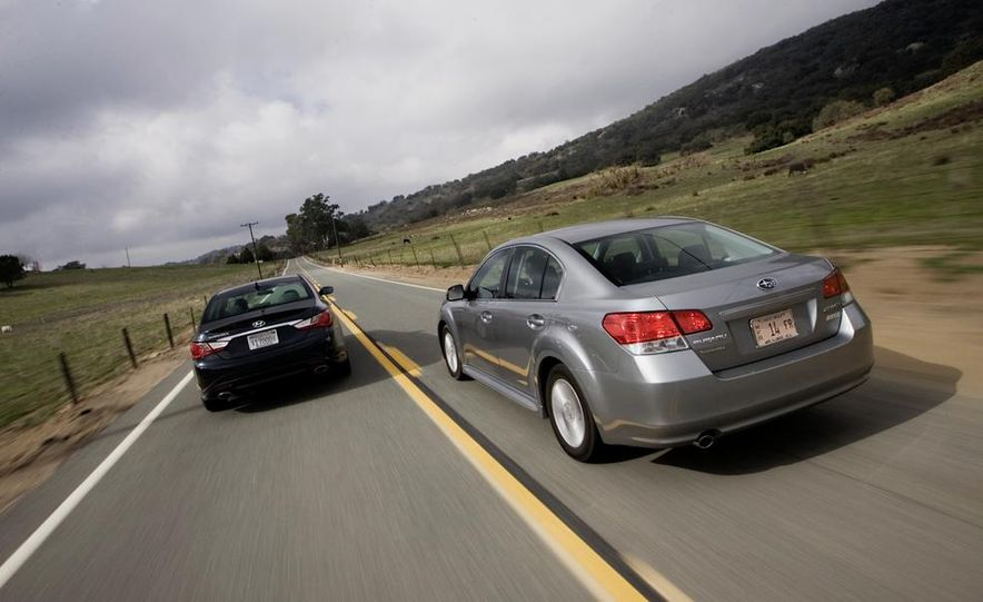 2010 Honda Accord EX, 2010 Subaru Legacy 2.5i, and 2011 Hyundai Sonata SE - Slide 9