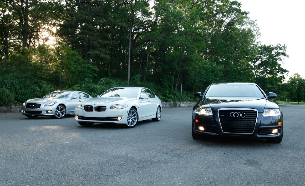 Infiniti m reviews infiniti m price photos and specs car and 2011 bmw 535i 2011 infiniti m37 vanachro Choice Image