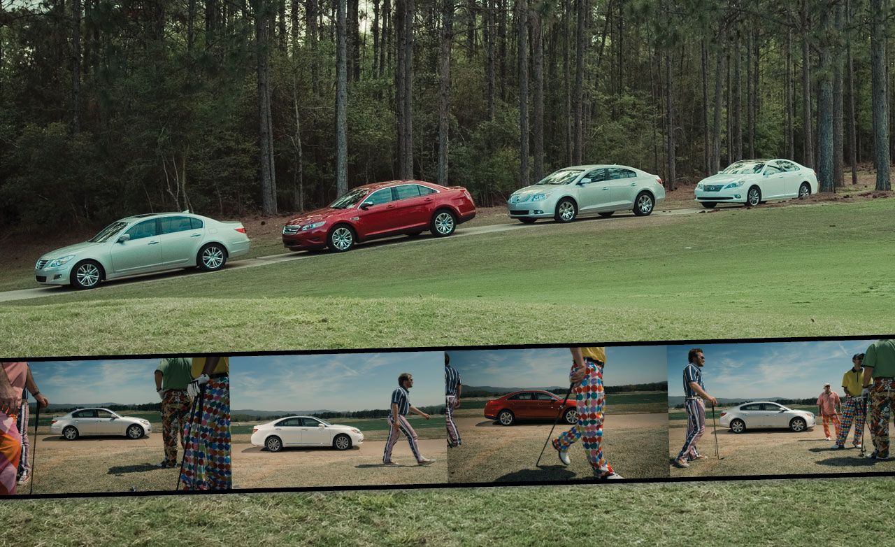 Buick Lacrosse Vs Ford Taurus Hyundai Genesis Lexus Es Photo S Original