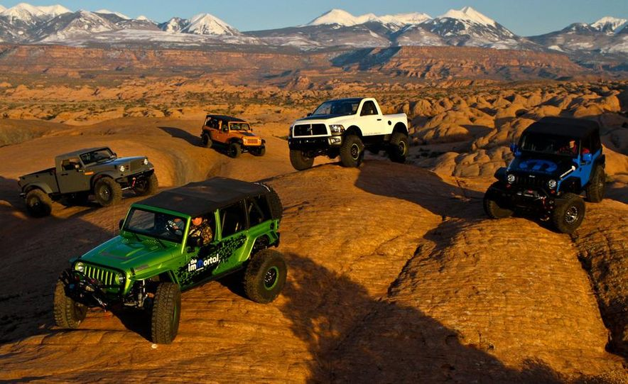 Jeep Nukizer 715 concept, and Mopar ImMortal, Wrangler J7, Ram PowerWagon, and The General concepts - Slide 1