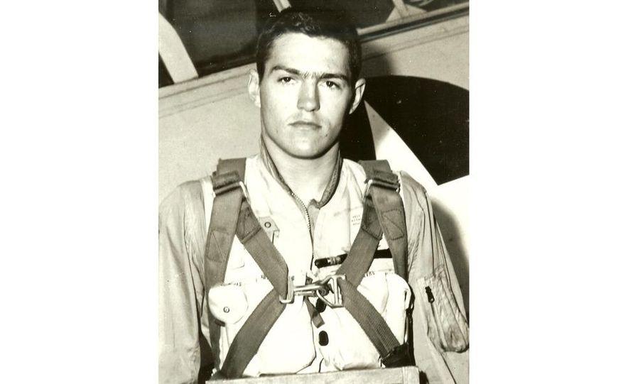 Early U.S. Marine Corps Aviation photo of Bob Lutz. - Slide 1