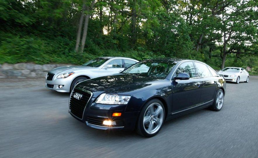 2011 Infiniti M37, 2010 Audi A6 3.0T Quattro, and 2011 BMW 535i - Slide 1