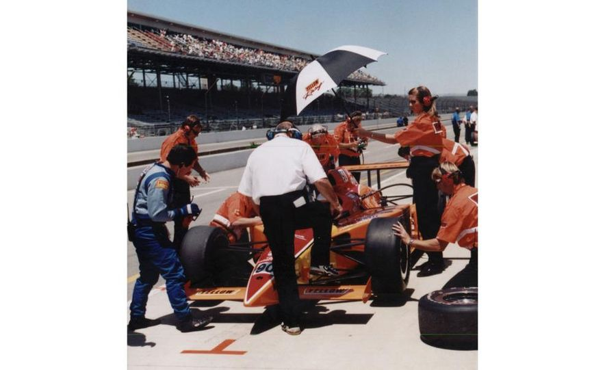 Lyn St. James qualifying at the Indianapolis Motor Speedway - Slide 4