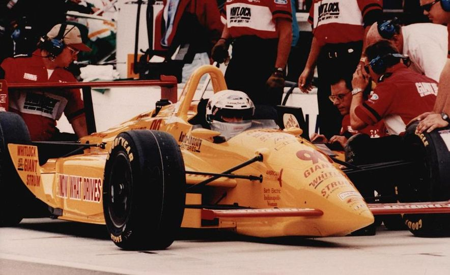 Lyn St. James qualifying at the Indianapolis Motor Speedway - Slide 5