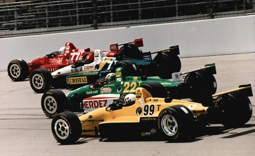 Lyn St. James qualifying at the Indianapolis Motor Speedway - Slide 6
