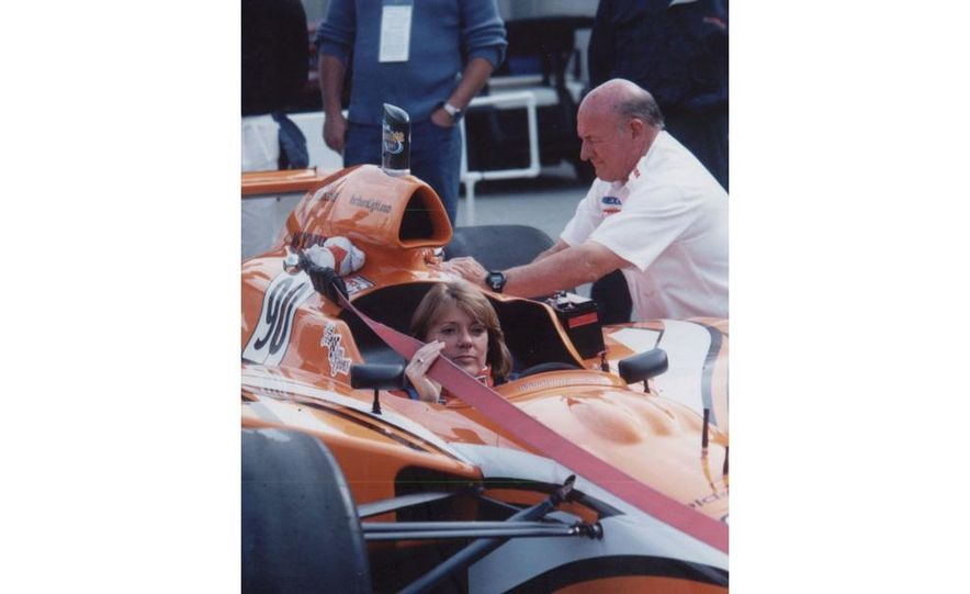 Lyn St. James qualifying at the Indianapolis Motor Speedway - Slide 7