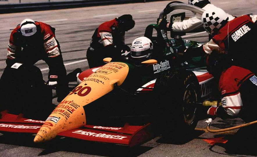 Lyn St. James qualifying at the Indianapolis Motor Speedway - Slide 12