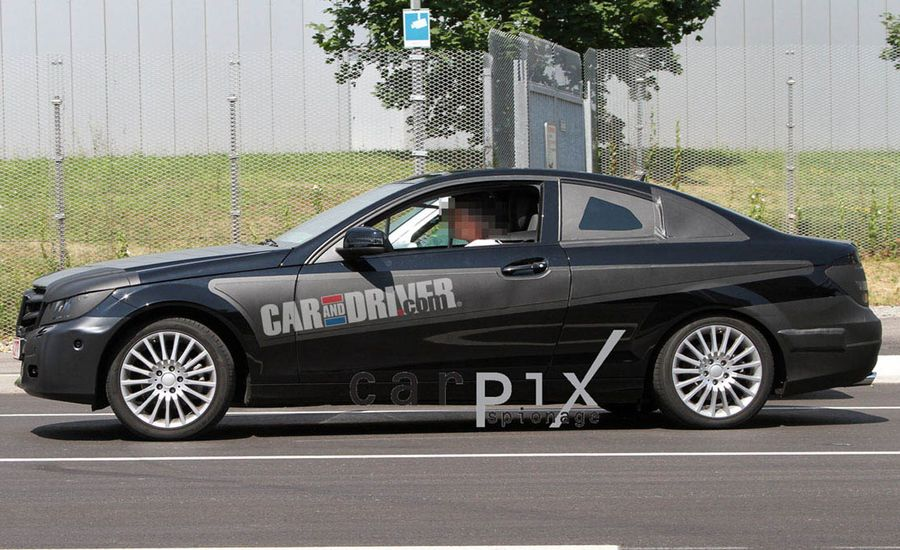 mercedes benz c class news 2012 mercedes c coupe spied car and driver. Black Bedroom Furniture Sets. Home Design Ideas