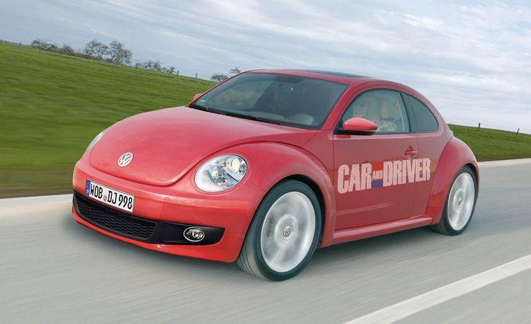 2012 Volkswagen New Beetle Rendered