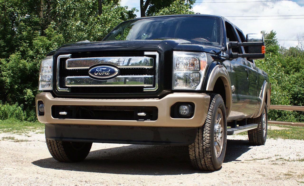2011 ford f 250 super duty king ranch crew cab 4x4 diesel instrumented test car and driver