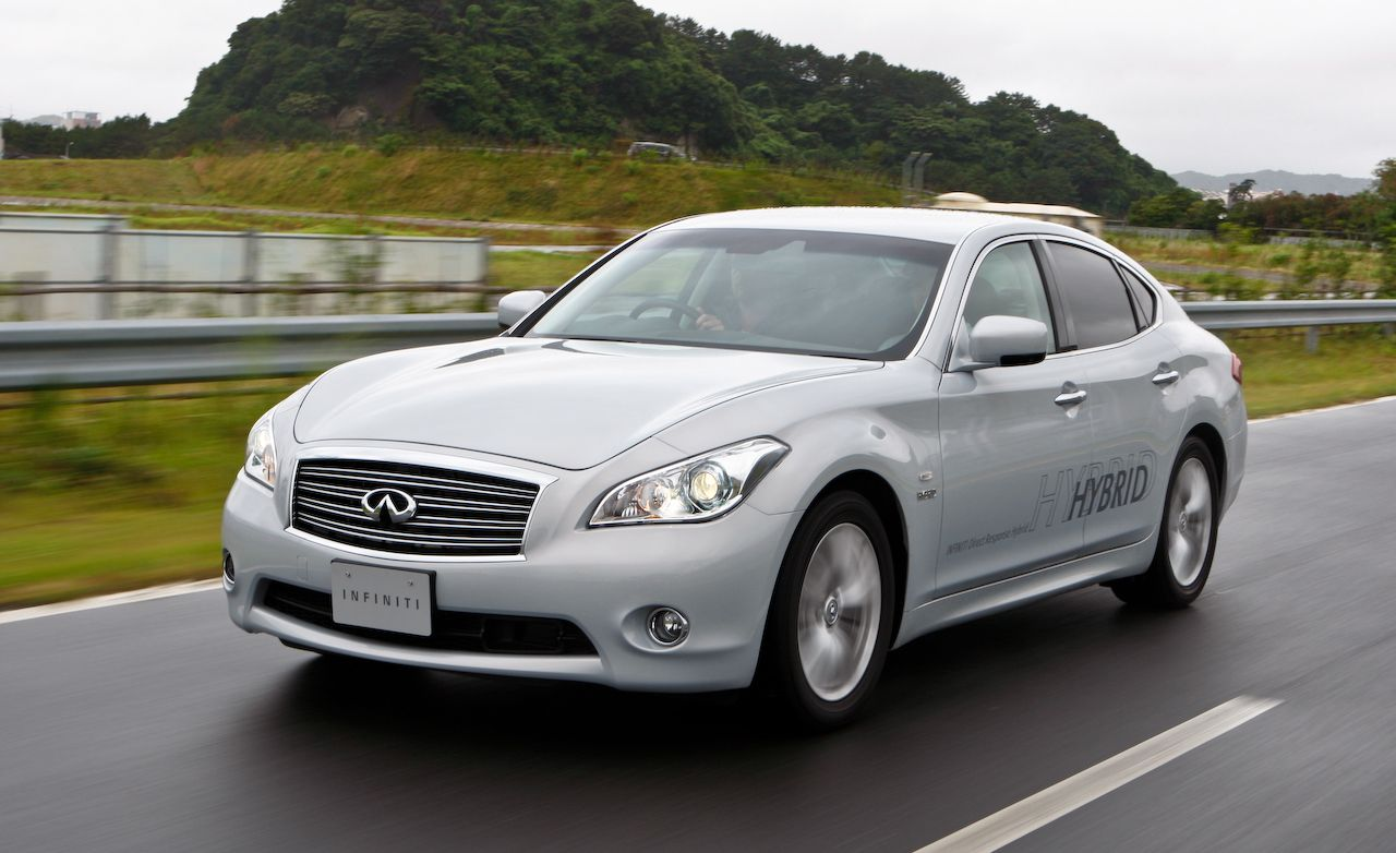 infiniti m review 2012 infiniti m35h hybrid first drive car and driver. Black Bedroom Furniture Sets. Home Design Ideas