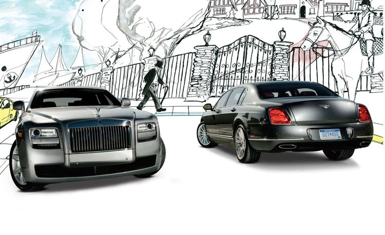 2010 Bentley Continental Flying Spur Speed vs. 2011 Rolls-Royce Ghost
