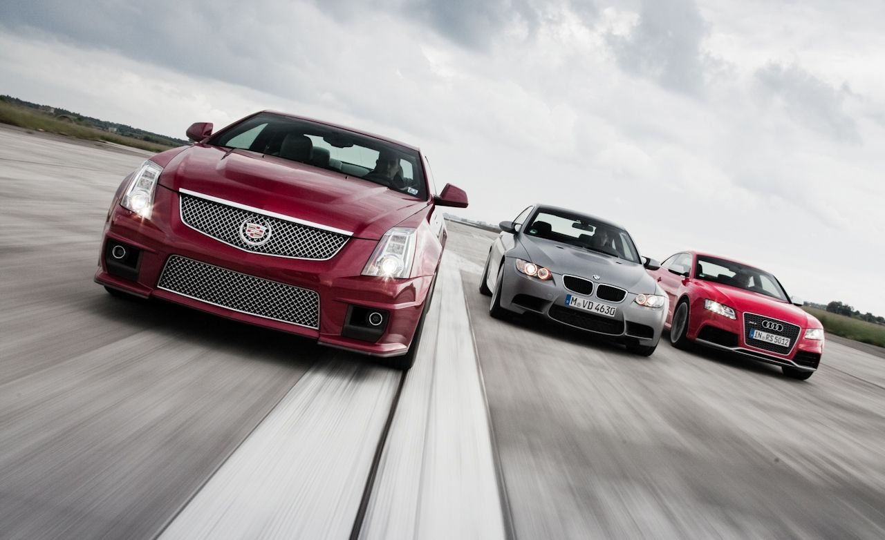 2010 bmw m3 2011 cadillac cts v comparison test car and driver