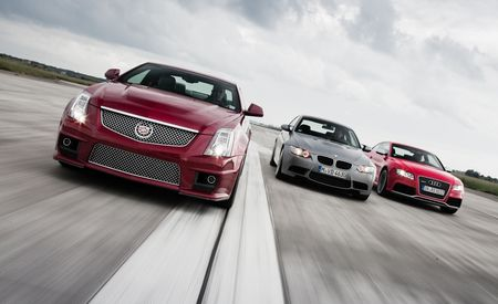 2011 Audi RS5 vs. 2010 BMW M3, 2011 Cadillac CTS-V