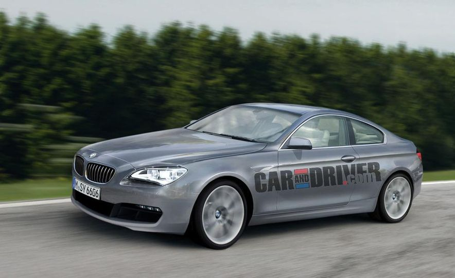 2012 BMW 6-series coupe (artist's rendering) - Slide 1