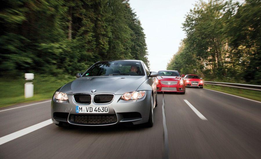 Audi RS Vs BMW M Cadillac CTSV Comparison - 2010 bmw m3 price