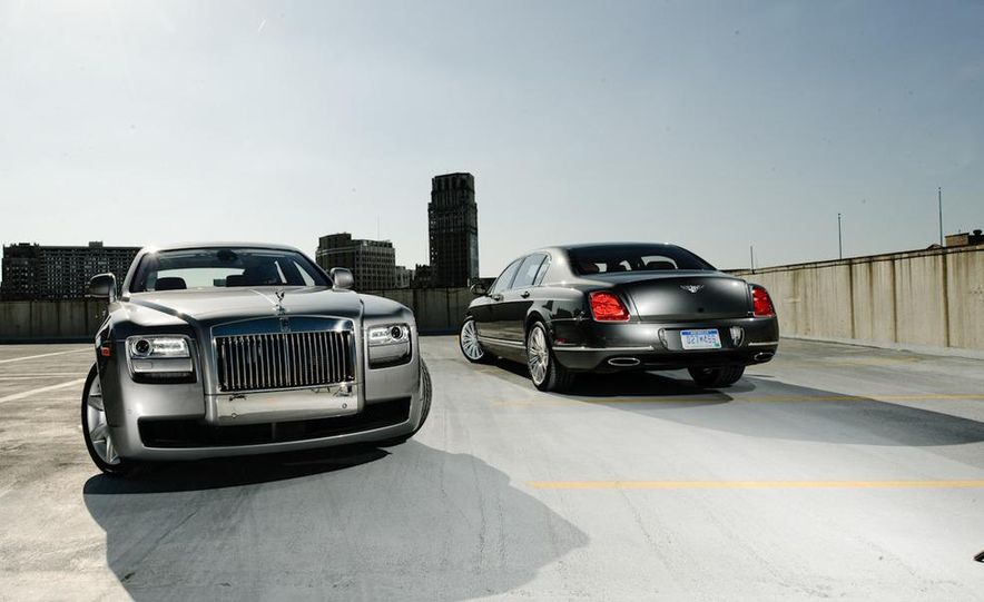 2011 Rolls-Royce Ghost and 2010 Bentley Continental Flying Spur Speed - Slide 1
