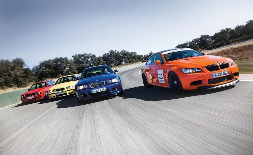 To celebrate 25 years of the M3, BMW invites us to pummel all four generations at once, including the new GTS. - Slide 1