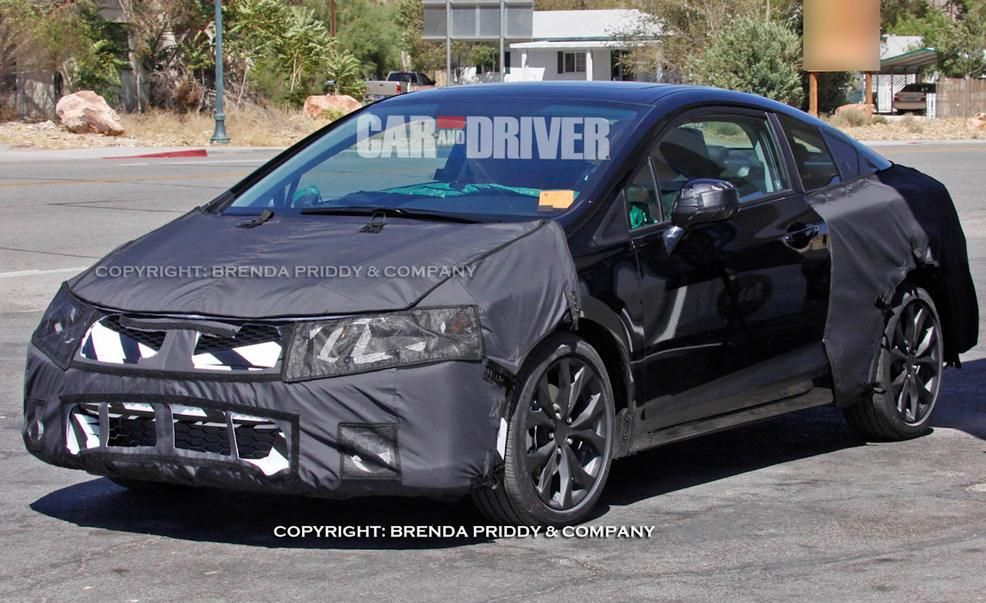 2012 Honda Civic Si coupe spy photo Pictures  Photo Gallery