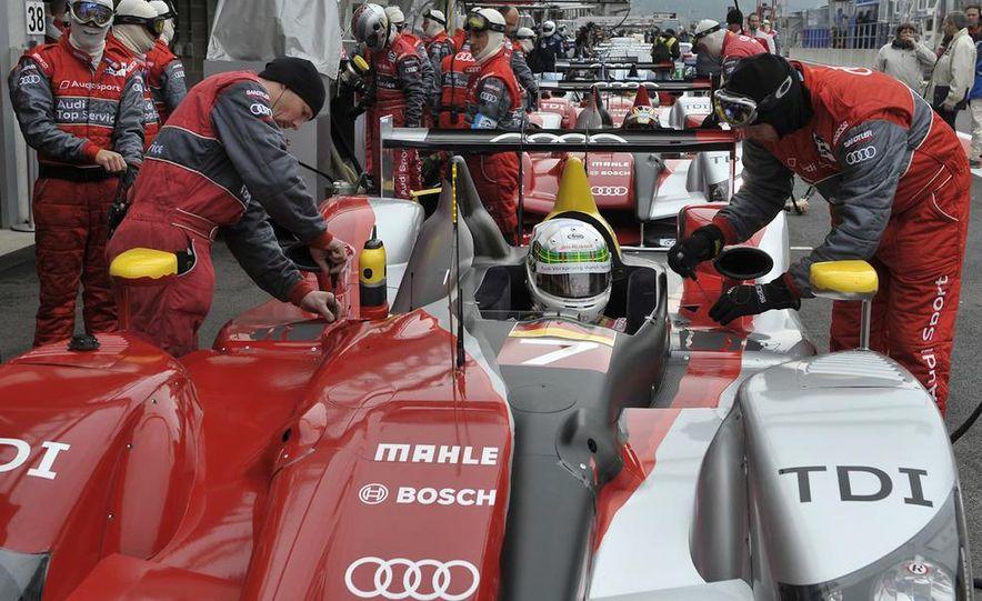 Allan McNish driving the Audi R15 TDI - Slide 1
