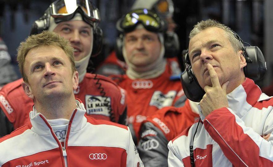 Allan McNish driving the Audi R15 TDI - Slide 3