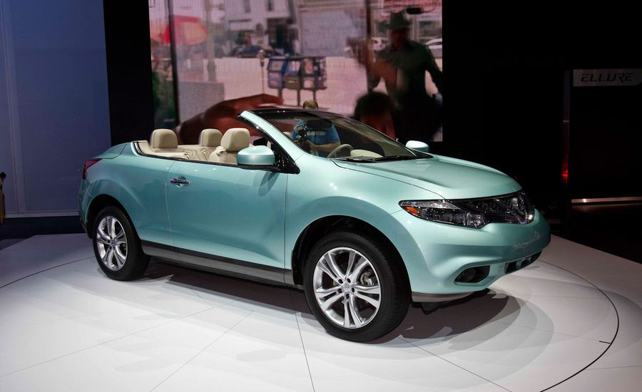 2011 nissan murano crosscabriolet debuts nissan murano news car and driver. Black Bedroom Furniture Sets. Home Design Ideas