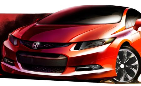 2012 Honda Civic Previewed by Concept Sketch