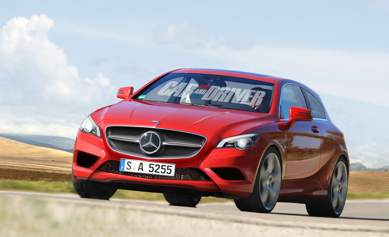 2013 Mercedes-Benz FWD A- and B-class Rendered