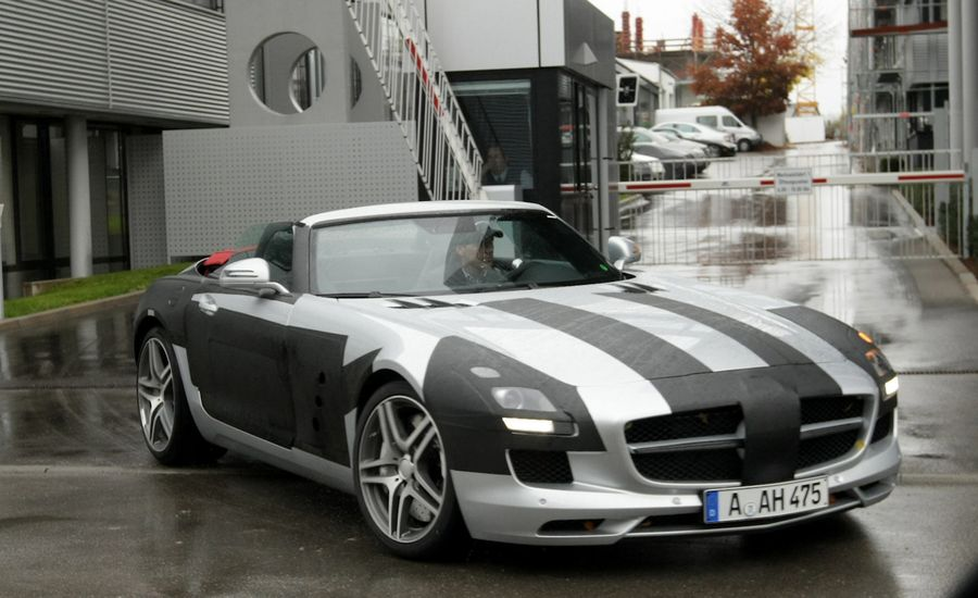 2012 Mercedes-Benz SLS AMG Roadster Images Leaked
