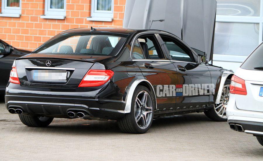 2012 mercedes benz c63 amg black series spied car and driver. Black Bedroom Furniture Sets. Home Design Ideas