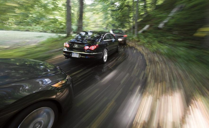 2010 Volkswagen CC 2.0T R-Line, 2010 Acura TSX V-6, and 2011 Buick Regal CXL Turbo - Slide 2