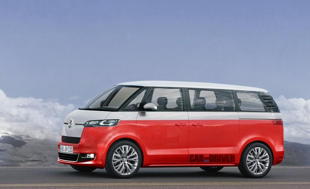 2014 Volkswagen Microbus Illustrations VW Microbus News  Car and