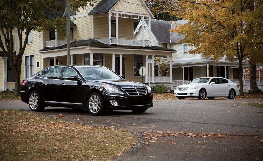 2011 Hyundai Equus and 2010 Lexus LS460L AWD - Slide 1