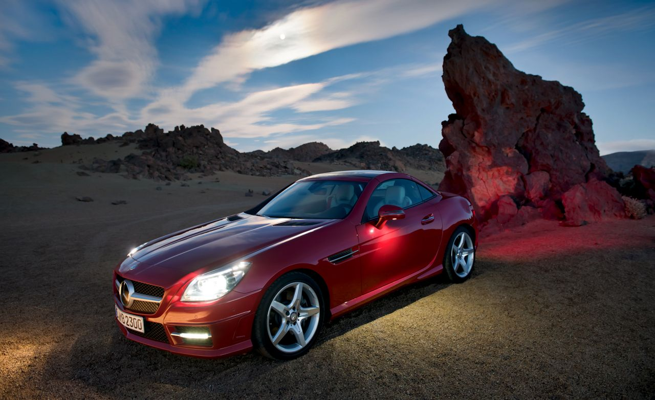 mercedes benz slk review car  driver