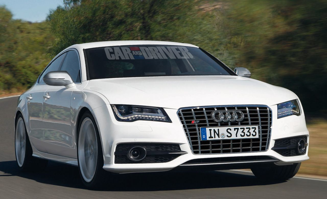 2012 audi s7 feature car and driver. Black Bedroom Furniture Sets. Home Design Ideas