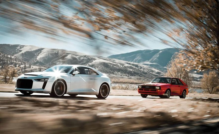 Audi Quattro concept and Audi Sport Quattro - Slide 1