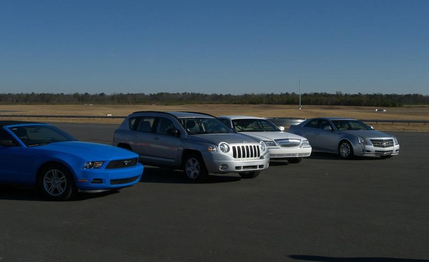 2011 Ford Mustang V-6 Convertible, 2010 Jeep Compass, 2011 Lincoln Town Car, 2010 Cadillac CTS4 - Slide 2