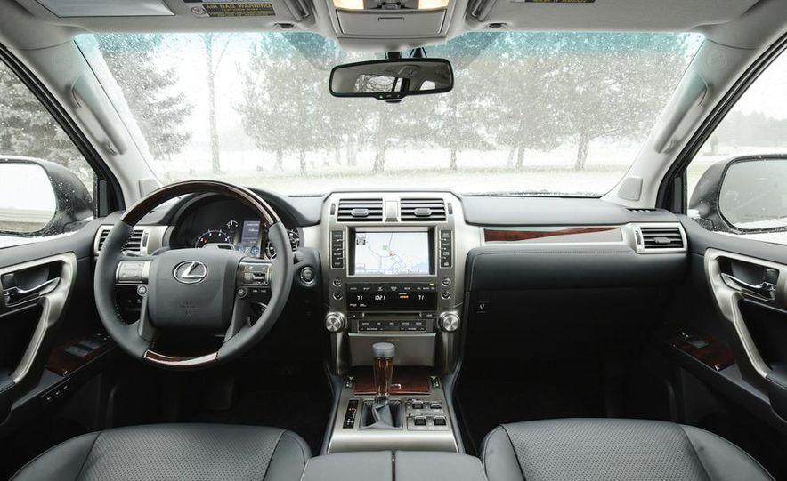 2011 BMW X5 xDrive35i, 2011 Land Rover LR4 HSE, 2011 Audi Q7 3.0T S-line, 2011 Acura MDX, and 2010 Lexus GX460 - Slide 26