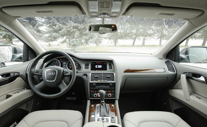 2011 BMW X5 xDrive35i, 2011 Land Rover LR4 HSE, 2011 Audi Q7 3.0T S-line, 2011 Acura MDX, and 2010 Lexus GX460 - Slide 6