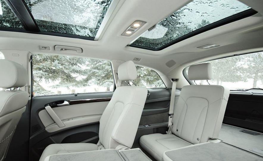 2011 BMW X5 xDrive35i, 2011 Land Rover LR4 HSE, 2011 Audi Q7 3.0T S-line, 2011 Acura MDX, and 2010 Lexus GX460 - Slide 7