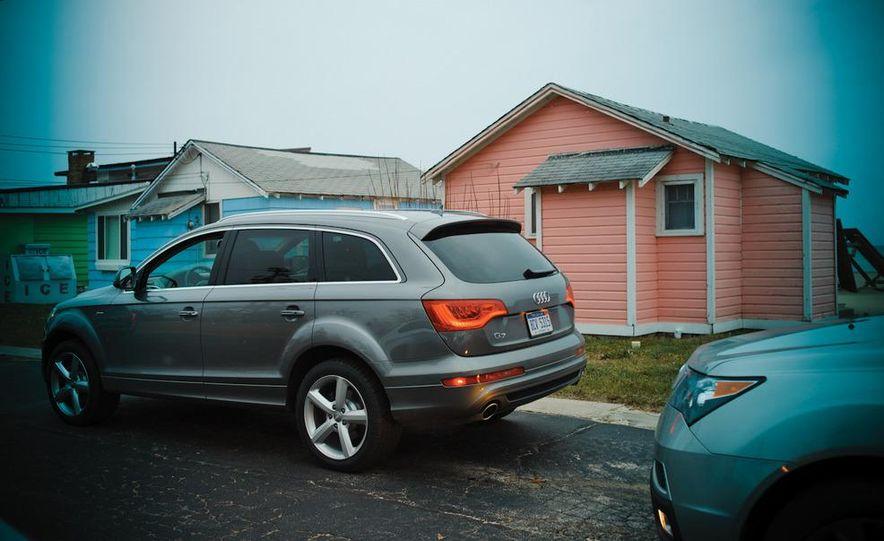 2011 BMW X5 xDrive35i, 2011 Land Rover LR4 HSE, 2011 Audi Q7 3.0T S-line, 2011 Acura MDX, and 2010 Lexus GX460 - Slide 5