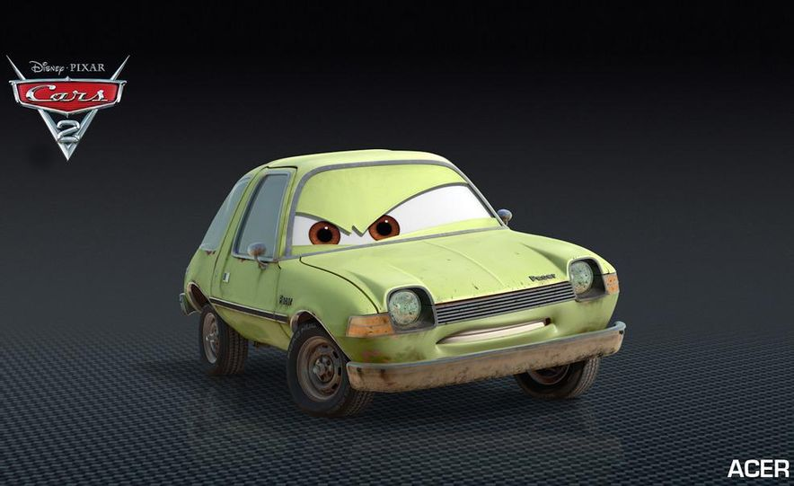 Grem, Acer, Lightning McQueen, Mater, and Finn McMissile in Disney-Pixar's Cars 2 - Slide 8