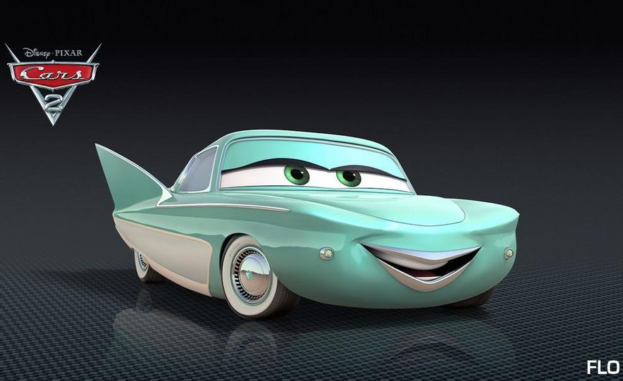Grem, Acer, Lightning McQueen, Mater, and Finn McMissile in Disney-Pixar's Cars 2 - Slide 14
