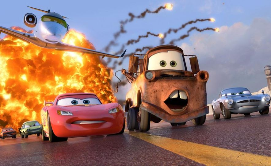 Grem, Acer, Lightning McQueen, Mater, and Finn McMissile in Disney-Pixar's Cars 2 - Slide 1