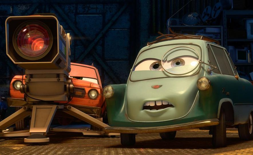 Grem, Acer, Lightning McQueen, Mater, and Finn McMissile in Disney-Pixar's Cars 2 - Slide 4